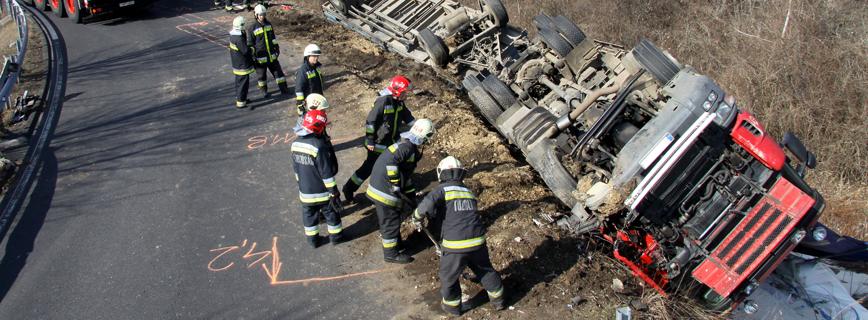 Katasztrófatípusok - Járműbaleset aloldal fejlécképe