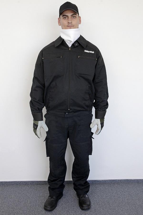 Kéményseprői ruházat (előről) kép kattintásra nagyítható