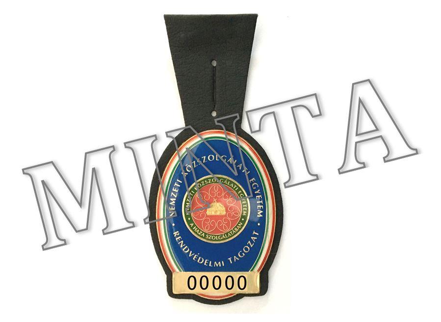 Szolgálati azonosító jelvény - Tisztjelölt kép kattintásra nagyítható