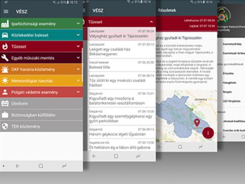 Hasznos segítség a BM Országos Katasztrófavédelmi Főigazgatóság okostelefonokra, valamint táblagépekre kifejlesztett, országosan és ingyenesen elérhető veszélyhelyzeti tájékoztató rendszere