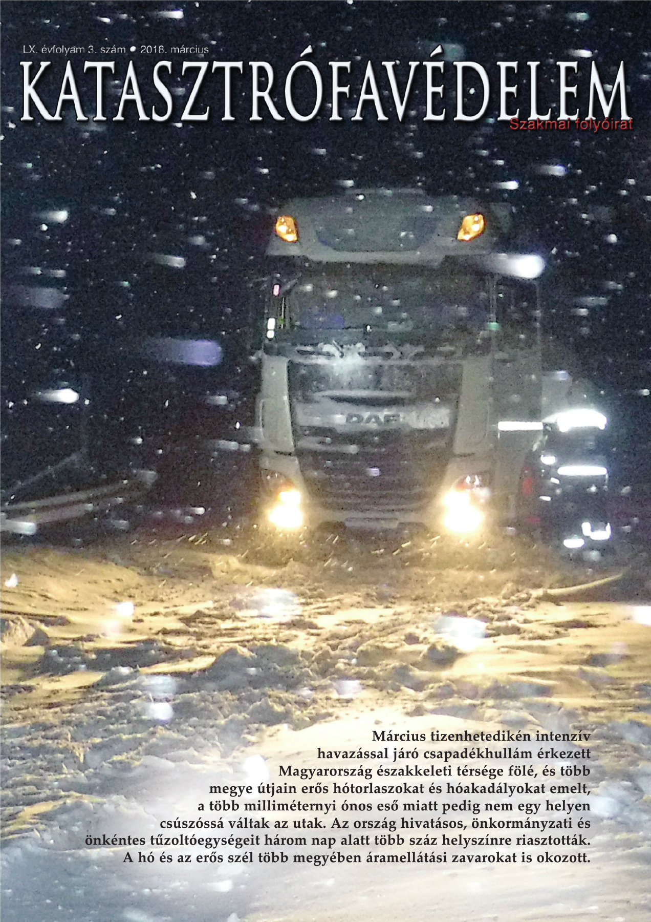A Katasztrófavédelem magazin LX. évfolyam 3. szám megtekintése